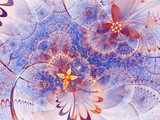 Colorful fractal floral pattern, digital artwork for creative graphic design Abstrakcja Obraz