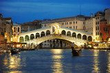 Rialto Bridge Venice  Architektura Plakat
