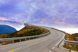 Fantastic bridge on the Atlantic road in Norway  Pejzaże Plakat