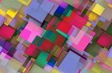 3D Squares Background  3D Fototapeta