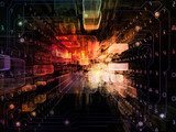 Virtual Space Background  Fototapety 3D Fototapeta
