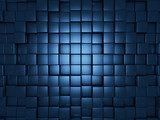 Blue cubes background  3D Fototapeta