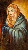 The Madonna drawn by me by oil on canvas  Olejne Obraz