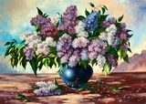 Lilac bouquet in a vase  Olejne Obraz