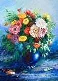 Bouquet of wild flowers in a vase  Olejne Obraz