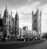 Houses of Parliament  in London UK view from Abingdon street.  Fototapety Czarno-Białe Fototapeta