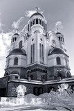 Church on Blood in Honor of All Saints Resplendent in the Russia  Fototapety Czarno-Białe Fototapeta