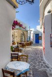 Beautiful alley in Plaka village, Milos island, Cyclades, Greece  Fototapety Uliczki Fototapeta