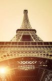 Vintage View of Eiffel Tower  Fototapety Sepia Fototapeta