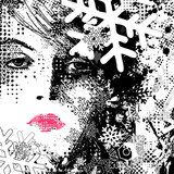 abstract illustration of a winter woman  Abstrakcja Fototapeta