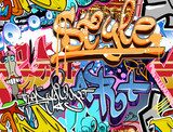 Graffiti wall. Urban art vector background. Seamless texture  Fototapety Graffiti Fototapeta