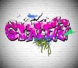 Graffiti wall background, urban art  Graffiti Fototapeta