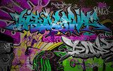 Graffiti wall urban art background  Fototapety Graffiti Fototapeta