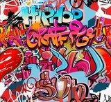 Hip hop graffiti urban art background  Graffiti Fototapeta
