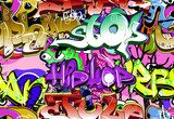 Graffiti wall. Urban art vector background. Seamless pattern  Fototapety Graffiti Fototapeta