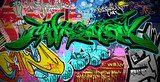 Graffiti Art Vector Background. Urban wall  Fototapety Graffiti Fototapeta