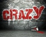 Graffiti wall with crazy, street background  Fototapety Graffiti Fototapeta