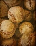 Aged Vintage baseball background  Sepia Fototapeta