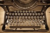Antique typewriter on sepia  Sepia Fototapeta