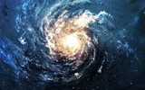 Incredibly beautiful spiral galaxy somewhere in deep space  Kosmos Fototapeta
