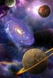 galaxies and planets in space  Fototapety Kosmos Fototapeta