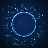 vector of the aries zodiac sign of the beautiful bright stars on  Fototapety Kosmos Fototapeta