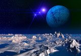 Alien Planet - 3D Rendered Computer Artwork  Kosmos Fototapeta