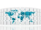 World map 3D  Mapa Świata Fototapeta