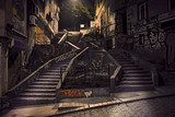 Staircase with graffiti  Schody Fototapeta