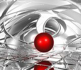sphere in abstract space  Fototapety 3D Fototapeta