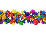 Abstract Illustration of Colorful Balls isolated on white  3D Fototapeta