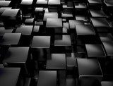 Black metallic 3d cubes background  Fototapety 3D Fototapeta