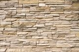 Stacked stone wall background horizontal  Mur Fototapeta