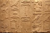 Old Egypt ancient writings on stone background  Mur Fototapeta