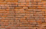 Old orange brick wall  Mur Fototapeta
