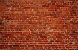 Red brick wall  Mur Fototapeta