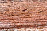 Old red brick wall texture  Mur Fototapeta