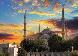 Blue mosque in Istanbul  Architektura Obraz