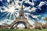 Wonderful view of Eiffel Tower in all its magnificence - Paris  Architektura Obraz