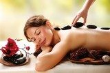 Spa Salon. Stone Massage. Dayspa  Obrazy do Salonu SPA Obraz