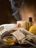 aromatherapy and spa concept  Obrazy do Salonu SPA Obraz