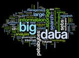 Big data concept in word cloud  Abstrakcja Obraz
