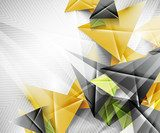 Geometric shape abstract triangle background  Abstrakcja Obraz