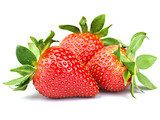 strawberry isolated on white background  Obrazy do Kuchni  Obraz
