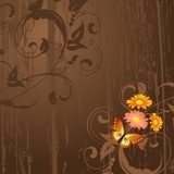 abstract grunge background with flowers  Fototapety do Kawiarni Fototapeta