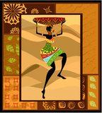 ethnic pattern c pretty woman  Fototapety do Kawiarni Fototapeta