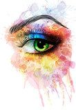 Eye made of colorful splashes  Fototapety do Kawiarni Fototapeta