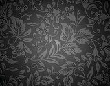 Seamless royal black wallpaper  Tekstury Fototapeta