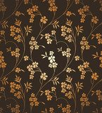 Seamless vector ornamental floral background  Tekstury Fototapeta