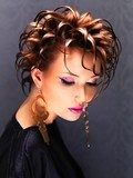 Beautiful woman with fashion  hairstyle and pink makeup  Obrazy do Salonu Fryzjerskiego Obraz